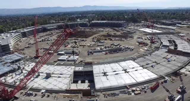 Jak pokračuje stavba Apple Campus 2 ve 4K záběrech z dronu
