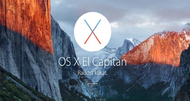 OS X El Capitan Golden Master zpřístupněn vývojářům