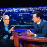 O čem mluvil Tim Cook v Late Show