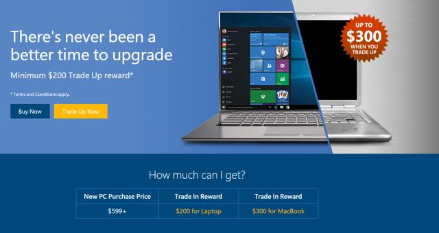 Přineste svůj MacBook a dostaňte 300 dolarů, slibuje Microsoft v novém promu