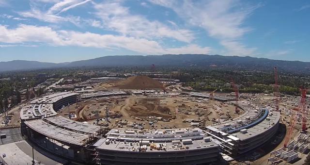 Video: více než půlka Apple Campus 2 je již dostavěna
