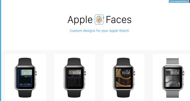 Apple Faces: stránka plná pozadí na Apple Watch