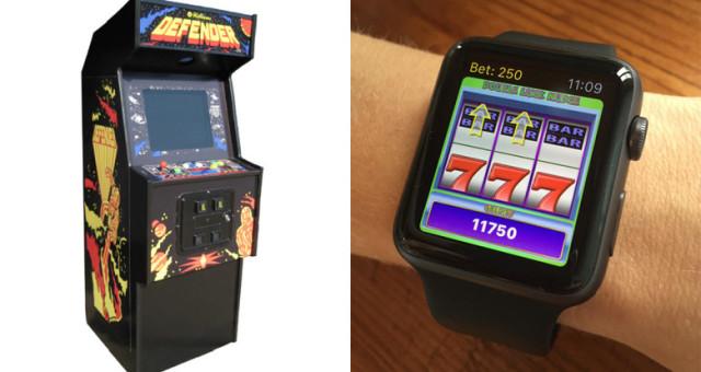 Nyní si můžete zahrát automaty na Apple Watch. Ale jen pro zábavu