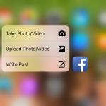 Facebook nově podporuje ovládání 3D Touch
