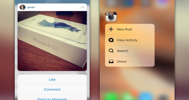 Jak Instagram využívá na iPhonu 6s 3D Touch