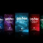 Všech sedm dílů Harryho Pottera vknižní podobě jsou dostupné kekoupi vaplikaci iBooks, obsahují navíc exkluzivní interaktivní animace a poznámky autorky