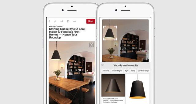 Pinterest přidal do své iOS aplikace vizuální vyhledávací funkci – dokáže identifikovat miliardy objektů