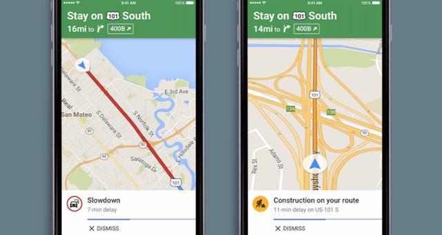 Google Maps pro iOS budou nově dávat hlasová upozornění na provoz