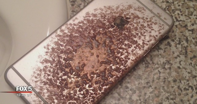 Muž tvrdí, že jeho iPhone 6 Plus při nabíjení vzplanul!