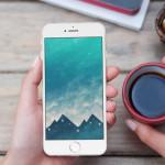 Zimní pozadí na obrazovku iPhonu a Apple Watch