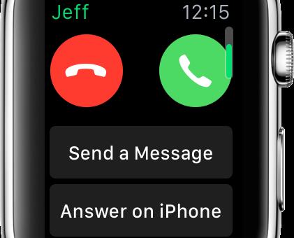 Jak použít Apple Watch kpřijmutí hovoru na vašem iPhonu