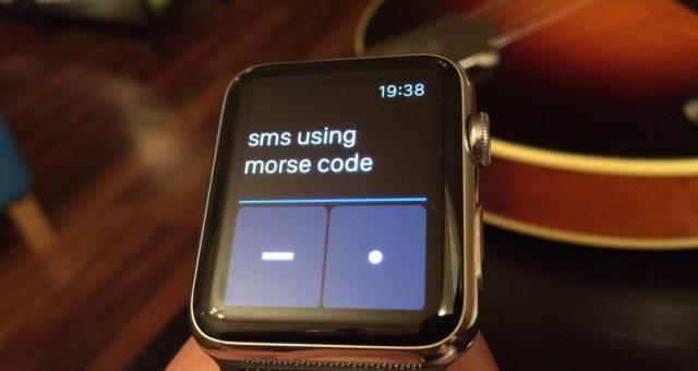 VIDEO: Mazaná aplikace umožňuje psát z Apple Watch pomocí morseovky