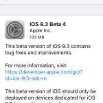 Apple vydal iOS 9.3 beta 4 pro vývojáře