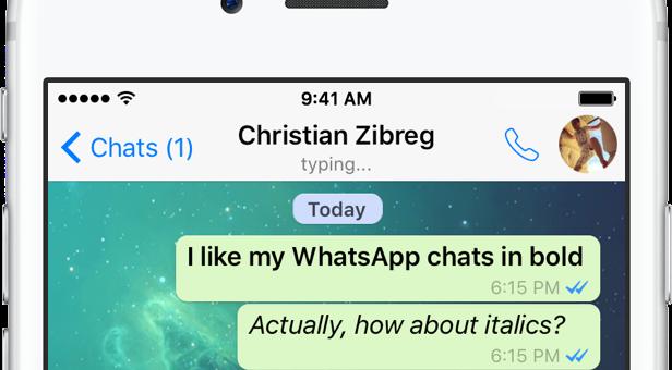 Jak použít kurzívu, přeškrtnuté a tučné písmo v aplikaci WhatsApp