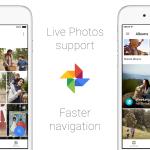Google aplikace Photos vnové aktualizaci získala podporu pro Live Photos a další nové funkce