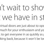 Kvůli dnešní akci 'Let us loop you in' Apple pozastavil provoz svého Apple online storu