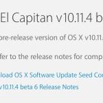 OS X El Capitan 10.11.4 beta 6 je nyní dostupná
