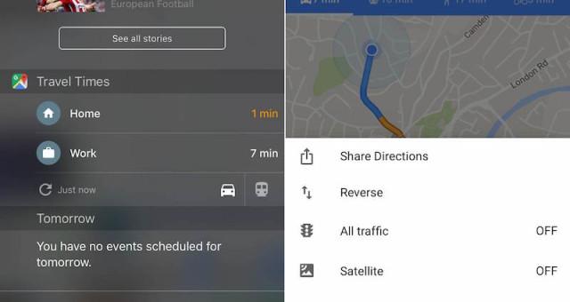 Google Mapy získali vnové aktualizaci Travel Times widget, Noční režim a další nové funkce