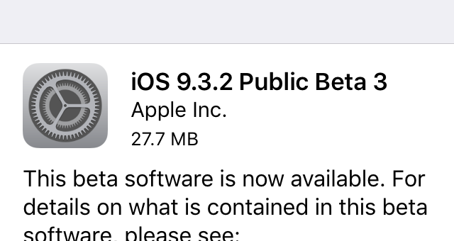 Nové beta verze: iOS 9.3.2 (pouze pro veřejnost), tvOS 9.2.1 (pouze pro vývojáře) a El Capitan 10.11.5 (veřejnost + vývojáři)