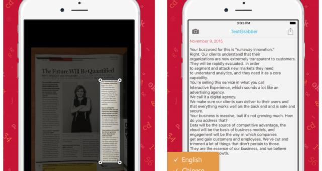 Novou free app of the week je aplikace TextGrabber