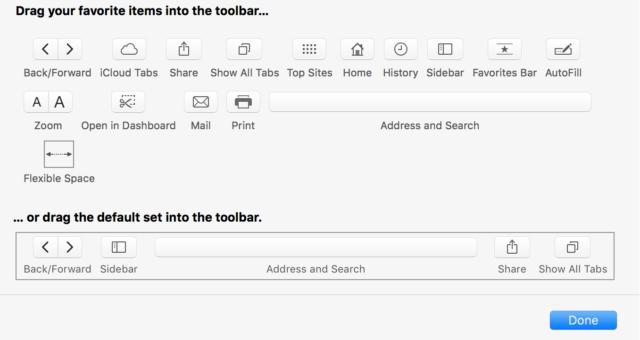 Jak si přizpůsobit Panel nástrojů Safari v Macu