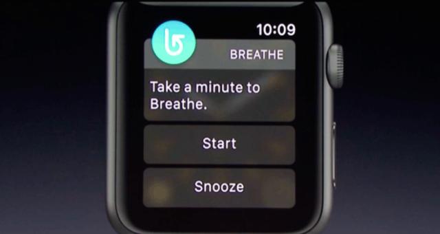 watchOS 3 vás bude učit správně dýchat. Apple si myslí, že to potřebujete