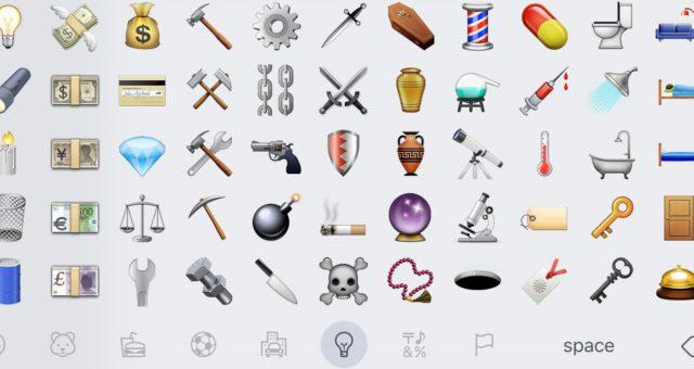 Apple stál za odstraněním pušky a pistole z nové sady emotikon