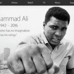 Apple uctil památku Muhammada Ali
