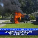 Galaxy Note 7 ohrožuje životy! Vybouchnul a vznítil vozidlo