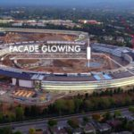 VIDEO: Stavba Apple Campus 2 už svítí v noci