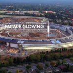 VIDEO: Stavba Apple Campus 2 už svítí v noci