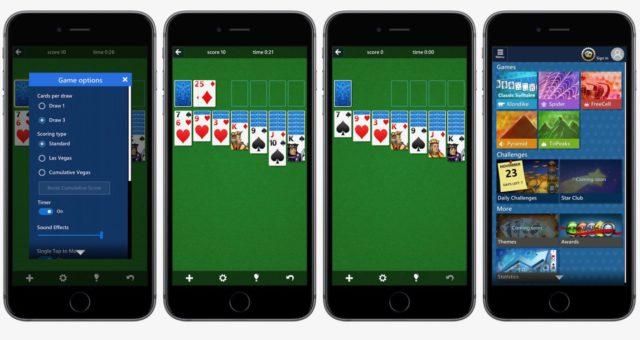 Microsoft přináší svou klasickou hru Solitaire PC do App Store