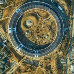 Podrobný letecký snímek Apple Campus 2