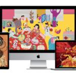 Apple sdílel nové tapety vytvořeny pomocí Macu a zařízeními iOS pro čínský Nový rok