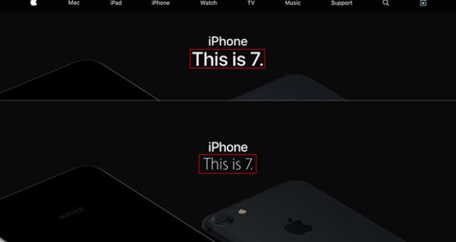 Apple změnil font na svých webových stránkách