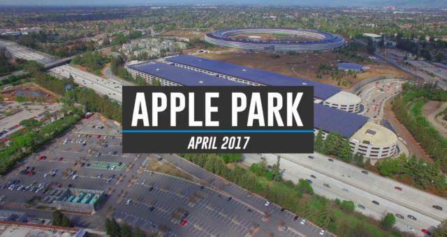 Podívejte se na nejnovější video Apple Parku pořízené dronem