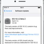 Apple vydal druhé beta verze iOS 10.3.2, macOS Sierra 10.12.5, watchOS 3.2.2 a tvOS 10.2.1