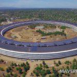 Nejnovější záběry z dronu dokazují, že Apple Park bude již brzo dokončen