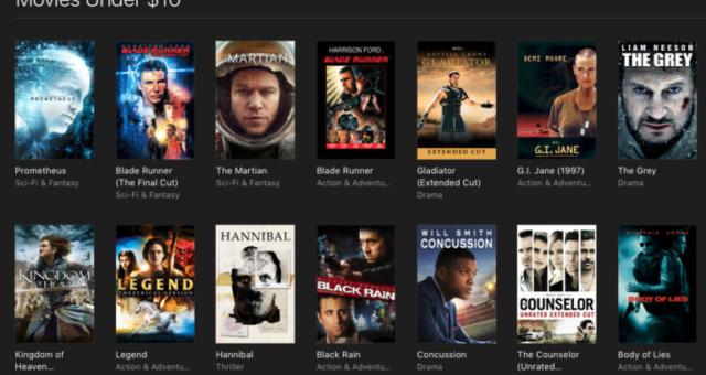 Deadpool, Prometheus a další iTunes filmy jsou nyní zlevněné