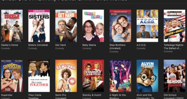 Spider-Man, Harry Potter a další iTunes filmy jsou nyní zlevněné