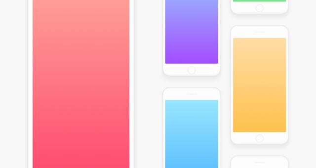 Barevné tapety pro iPhone