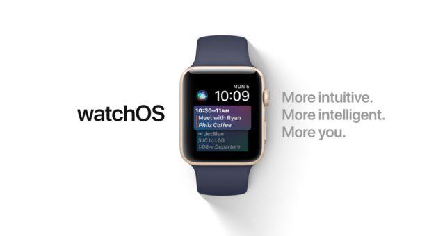 watchOS 4 beta verze 6 pro Apple Watch je nyní k dispozici