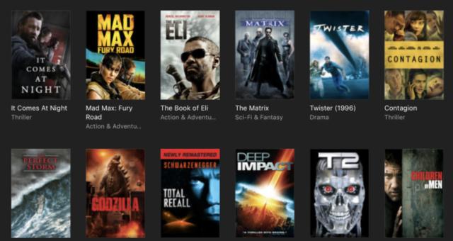 2012,  Terminator 2: Judgement Day a další iTunes filmy jsou nyní zlevněné