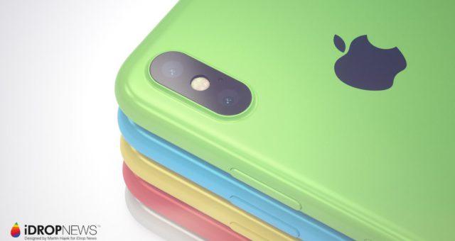 Obrázky konceptu iPhone Xc v dostupném barevném balení