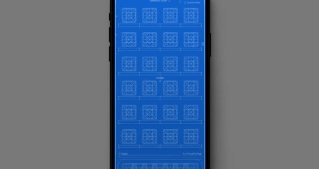 Mřížkové tapety pro iPhone
