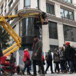 Nové fotografie zobrazují exteriér výstavby nového Apple Store ve Vídni