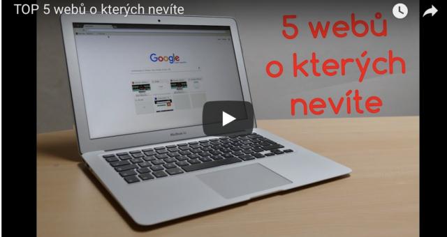 TOP 5 webů, o kterých nevíte
