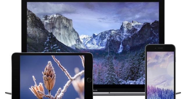 Zimní tapety pro iPhone, iPad a desktop