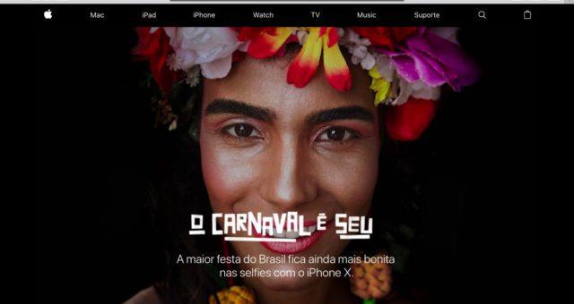 """Podívejte se na nové Apple reklamy """"Selfies on iPhone X"""" oslavující Carnival of Brazil"""