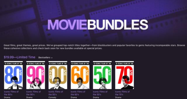 Ikonické balíčky filmů a další iTunes filmy ve slevě